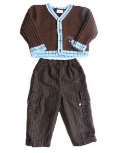 20.00 Jacadi 18M Brown knitted cardigan and brown pants 80.00 20.00 100 cotton